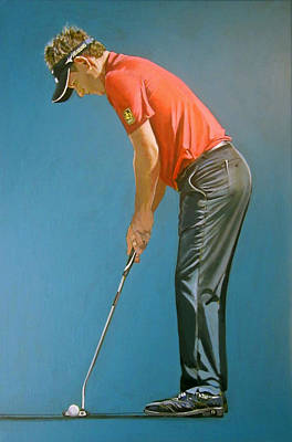 Luke Donald Painting - Luke Donald Putt by Mark Robinson