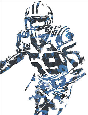 Panther Mixed Media - Luke Kuechly Carolina Panthers Pixel Art 6 by Joe Hamilton