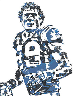 Panther Mixed Media - Luke Kuechly Carolina Panthers Pixel Art 7 by Joe Hamilton