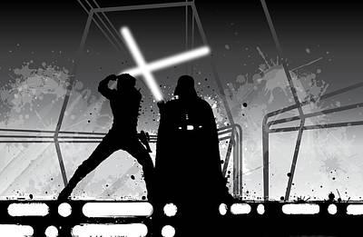 Alliance Digital Art - Luke Vs Vader by Nathan Shegrud