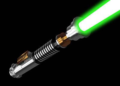 Sword Of Light Digital Art - Luke's Lightaber IIi by Nathan Shegrud
