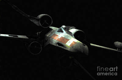 Movie Prop Photograph - Luke's Original X-wing by Micah May