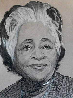 Drawing - Lula Bannister-johnson by Michelle Gilmore
