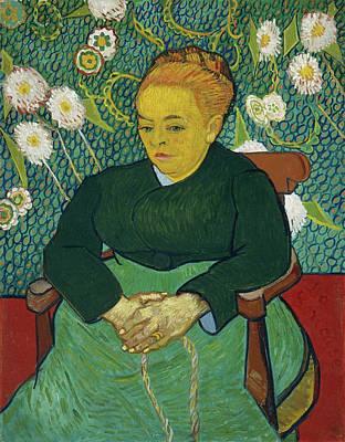 Van Gogh Painting - Lullaby, Madame Augustine Roulin Rocking A Cradle, La Berceuse by Vincent van Gogh