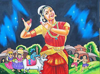 Lullaby Of Lord Krishna Art Print
