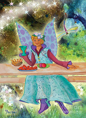 Lulu Beth Twinkle At The Banquet Art Print by Teresa Ascone