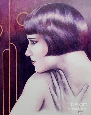 Colored Pencil Drawing - Lulu Portrait Of Louise Brooks by Paul Petro