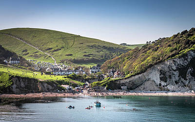 Photograph - Lulworth Cove Seascape by Framing Places