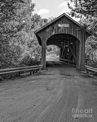 Photograph - Lumber Mill Bridge Belvidere Vermont by Edward Fielding