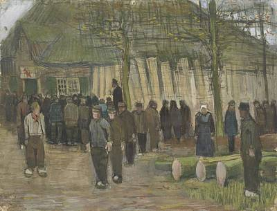 Painting - Lumber Sale Nuenen  January 1884 Vincent Van Gogh  1853  1890 by Artistic Panda