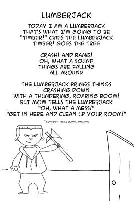 Drawing - Lumberjack by John Haldane