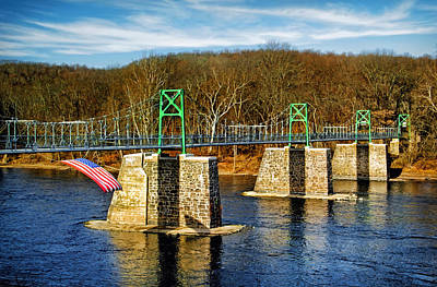 Photograph - Lumberville Foot Bridge by Carolyn Derstine
