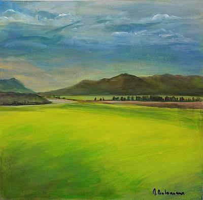 Painting - Lumiere D'orage by Muriel Dolemieux
