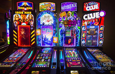 Lumiere Place Casino Slot Machines Art Print by David Oppenheimer