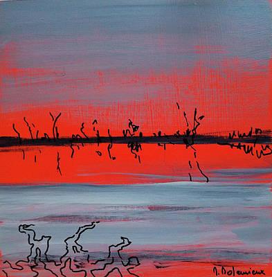 Painting - Lumiere Rouge by Muriel Dolemieux