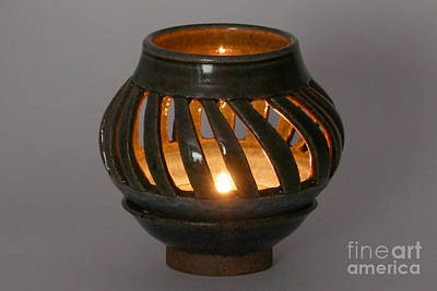 Hand Thrown Pottery Photograph - Luminaire by Alan M Thwaites