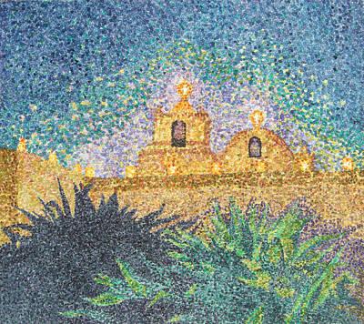 Luminaria Painting - Luminarias At Goliad by Barbara Lugge