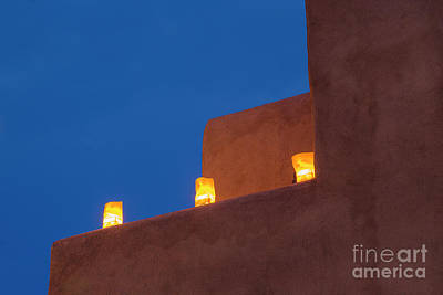 Luminaria Photograph - Luminarias At Twilight by Brenda Tharp