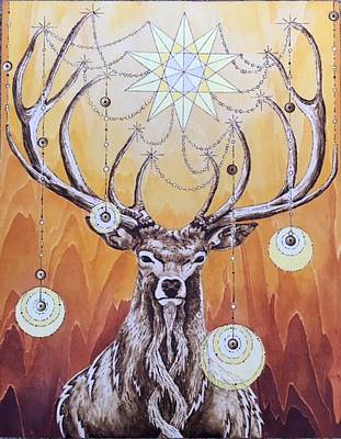 Painting - Luminary Stag by Kristen Holmberg