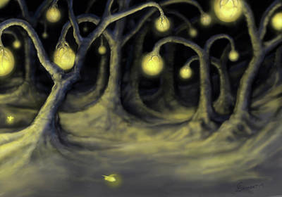 Painting - Luminated Forest by Cliff Lambert
