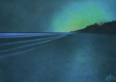 Painting - Luminescence At Torrey Pines II by Robin Street-Morris