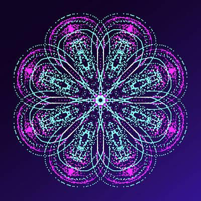 Mixed Media - Luminescent Ornament 1 by Masha Batkova