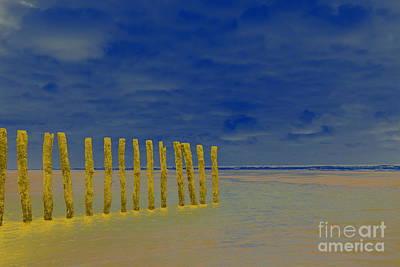 Luminous Beach Blue Sky Art Print