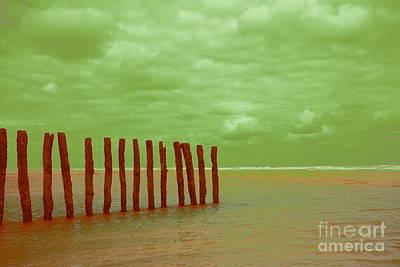 Luminous Beach Green Art Print
