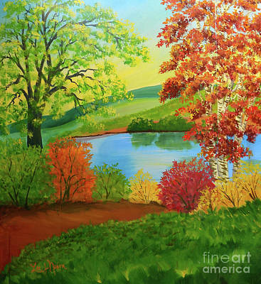 Painting - Luminous Colors Of Fall by Lee Nixon