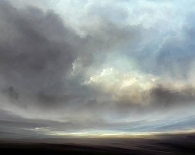 Landscapes Mixed Media - Luminous Landscape by Lonnie Christopher