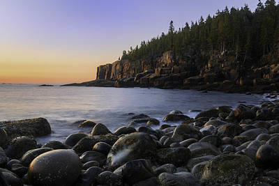Photograph - Luminous Light On Otter Cliffs by Expressive Landscapes Fine Art Photography by Thom