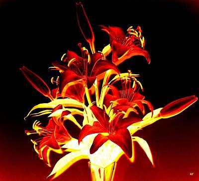 Digital Art - Luminous Lilies by Will Borden
