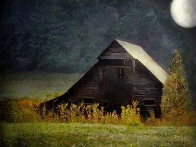 Painting - Luminous Night In The Pinelands by RC deWinter