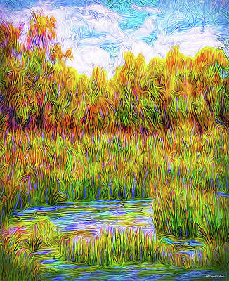 Digital Art - Luminous Peace Pool by Joel Bruce Wallach