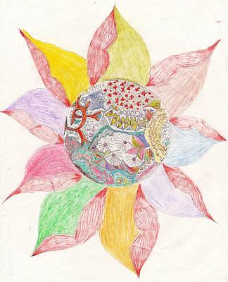 Luminous Drawing - Luminous Spring by Sakiba Jarwar