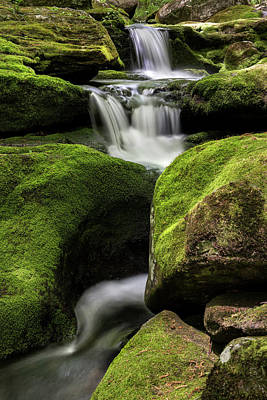 Luminous Triple Falls - Tunxis State Forest   Art Print by Thomas Schoeller