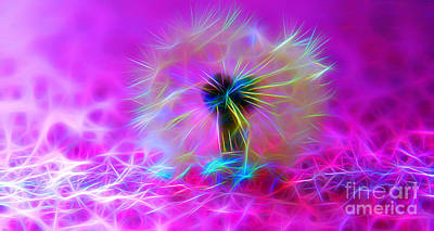 Abstract Digital Art Digital Art - Luminous Wish by Krissy Katsimbras