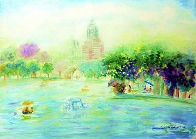 Painting - Lumpini Park by Wanvisa Klawklean