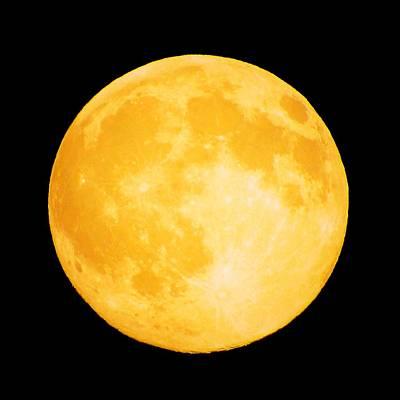 Moon Photograph - Luna Anaranjada by Julie Pacheco-Toye