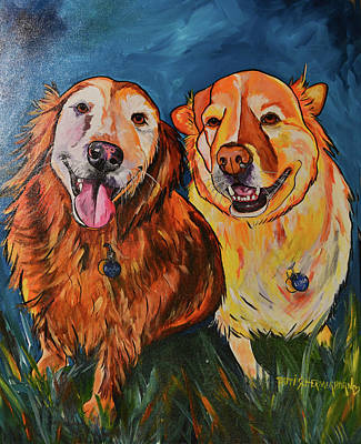 Painting - Luna And Pumpkin by Patti Schermerhorn