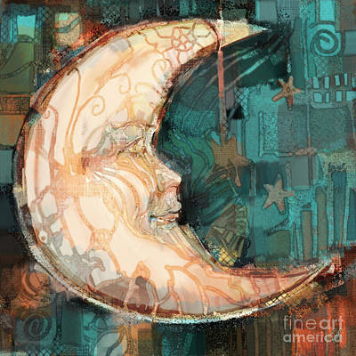 Art Print featuring the painting Luna by Carrie Joy Byrnes