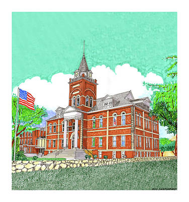 Painting - Luna County Court House  Deming  N M   by Jack Pumphrey