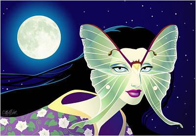 Luna Art Print by Cristina McAllister