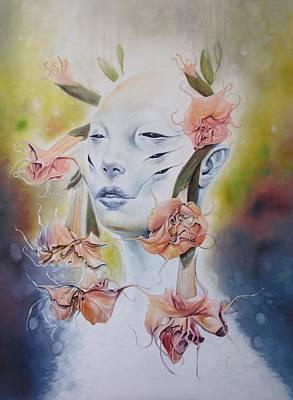 Datura Painting - Luna Datura by Brian Harker