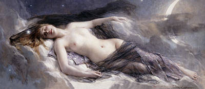 Shrouded Painting - Luna by Leon Francois Comerre