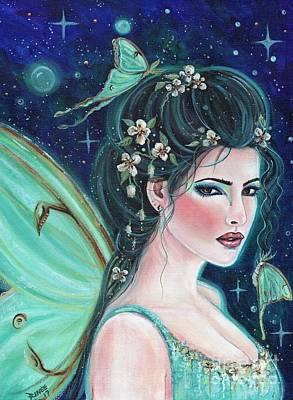 Painting - Luna Moth Fairy by Renee Lavoie