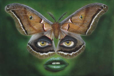 Dakota Painting - Luna Moth by Wayne Pruse