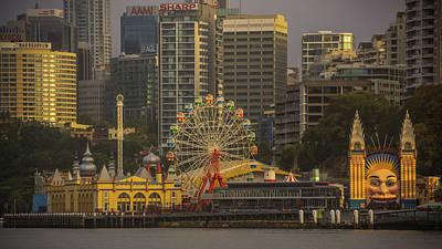 Photograph - Luna Park Sunrise Sydney Australia by Lawrence S Richardson Jr