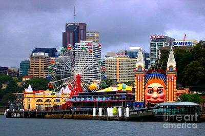 Luna Park Sydney Australia Art Print by Freda Sbordoni