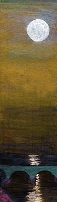 Painting - Luna Per Pontem - Moon Over Bridge by R Kyllo